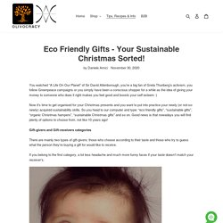 Eco Friendly Gifts - Your Sustainable Christmas Sorted!