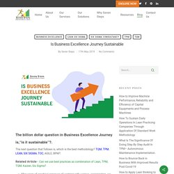 Business excellence journey sustainable