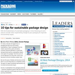 10 tips for sustainable package design