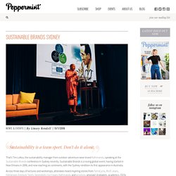 Sustainable Brands Sydney - peppermint magazine