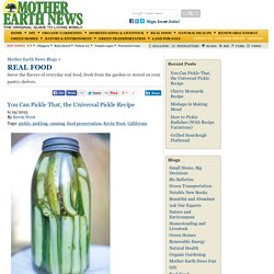 Real Food Blog - MOTHER EARTH NEWS - Local and Sustainable Food, Seasonal Recipes, Food Preservation