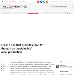 Okja: a film that provides food for thought on 'sustainable' meat production