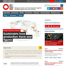 Sustainable food production: Facts and figures