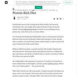 Sustainable High Protein Foods