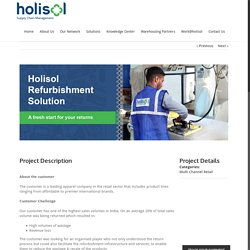 Sustainable refurbishment solutions for a fashion & lifestyle brand - Holisol Logistics