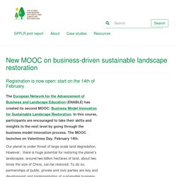 New MOOC on business-driven sustainable landscape restoration