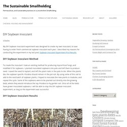 DIY Soybean Inoculant - The Sustainable Smallholding