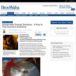 Sustainable Energy Solutions - A Key to The Country's Economy