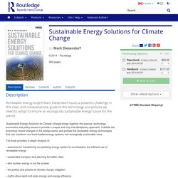 Sustainable energy solutions for climate change.
