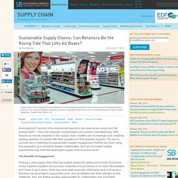 Sustainable Supply Chains: Can Retailers Be the Rising Tide That Lifts All Boats?