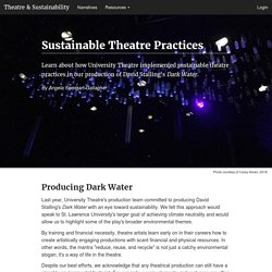 Sustainable Theatre Practices