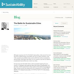 The Battle for Sustainable Cities