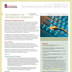 Sustainability in Information Technology