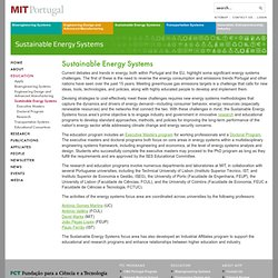 Sustainable Energy Systems - MIT Portugal Program