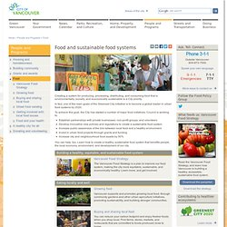 Food and sustainable food systems