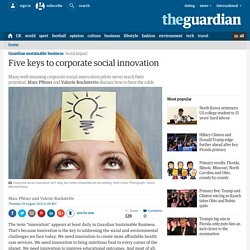 Five keys to corporate social innovation | Guardian Sustainable Business