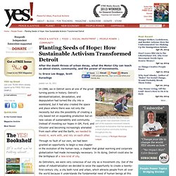 Planting Seeds of Hope: How Sustainable Activism Transformed Detroit by Grace Lee Boggs and Scott Kurashige