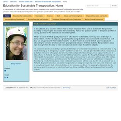 Education for Sustainable Transportation (Molly)