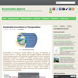 Sustainable Innovations in Transportation