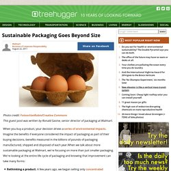Sustainable Packaging Goes Beyond Size