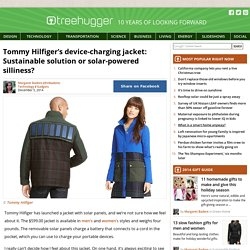 Tommy Hilfiger's device-charging jacket: Sustainable solution or solar-powered silliness?