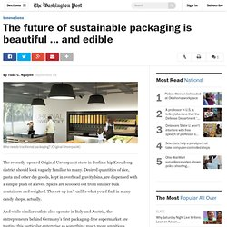 The future of sustainable packaging is beautiful … and edible