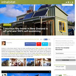 Luxurious tiny home in New Zealand is off-grid and 100% self-sustaining