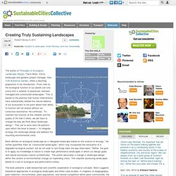 Creating Truly Sustaining Landscapes