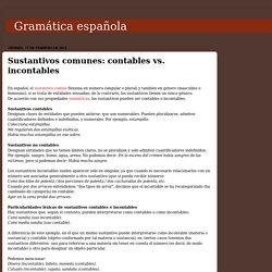 Gramática española: Sustantivos comunes: contables vs. incontables
