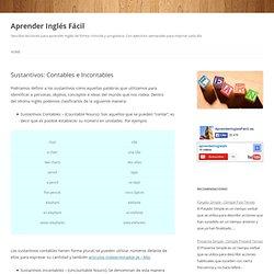 Sustantivos: Contables e Incontables