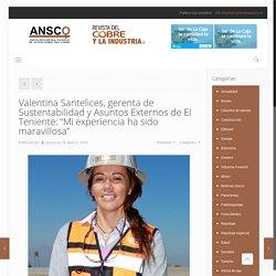 """Valentina Santelices, gerenta de Sustentabilidad y Asuntos Externos de El Teniente: """"Mi experiencia ha sido maravillosa"""" – Revista Ansco"""