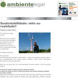 Sustentabilidade: mito ou realidade? « Portal Ambiente Legal