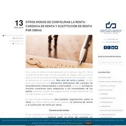 Carencia de renta y sustitución por obras - deSalvador Blog