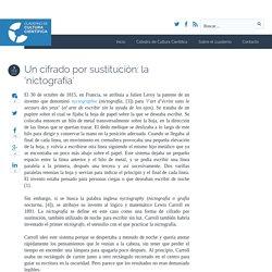 Un cifrado por sustitución: la 'nictografía' - Cuaderno de Cultura Científica