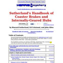 Sutherland's Handbook of Coaster Brake and Internally-Geared Hubs