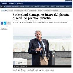 Sutherland clama por el futuro del planeta al recibir el premio Donostia