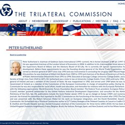 Peter Sutherland – The Trilateral Commission