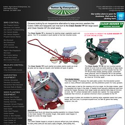 Sutton Ag - Clean Seeder TP Large Seed Planter