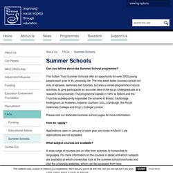 Sutton Trust - Summer Schools