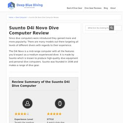 Suunto D4i Novo Dive Computer Review - Scuba Diving Gear