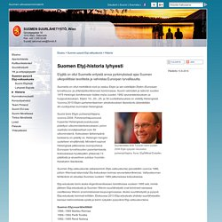 Historia - Suomen suurlähetystö, Wien : Suomen pysyvä Etyj-valtuuskunta : Historia