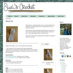 Suvi's Crochet: Skinny Tie