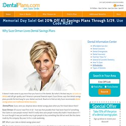 Suze Orman Savings Plans