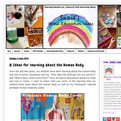 8 Ideas for learning about the Human Body