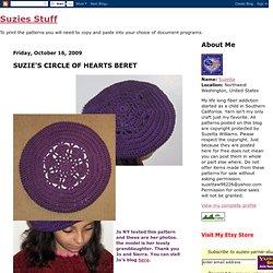 SUZIE'S CIRCLE OF HEARTS BERET