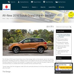 All-New 2016 Suzuki Grand Vitara – Review : Penrith Suzuki Blog