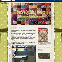 Suzy's Quilting Room: It's Here!!!