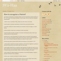 SVa-Haa: How to recognize a Patriot?