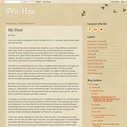 SVa-Haa: My Dear