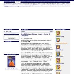 6 Svadhishthana Chakra (Centre du bas de l'abdomen) - Les Chakras
